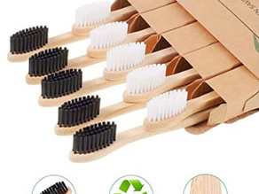 Eco-Friendly Soft Bristles Bamboo Toothbrushes 10-pcs Set $4.49 << $12.99
