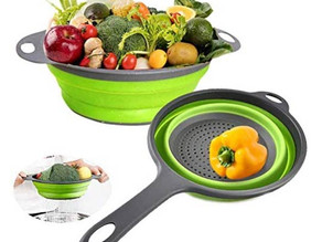 Silicone Collapsible Colander 2-Pack Set $6.59 << $11.99