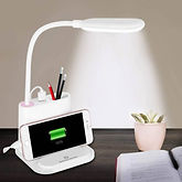 LED Desk Lamp with USB Charging Port & Pen Holder $10.99 << $21.98