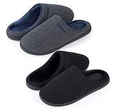 Men's Soft Fleece Lining Warm Slipper 2-Pair $14.99 (50% Off coupon)