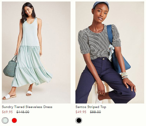 Anthropologie is offering Extra 50% off Sale | Kongdeals은 핫딜, hot deals, 할인쿠폰,아마존 할인코드, 아마존 쿠폰 코드, Amazon, coupons, promo codes, coupon codes, freesbees, sale, clearance 등 미국 쇼핑 채널 세일 및 브랜드 정보를 매일 공유