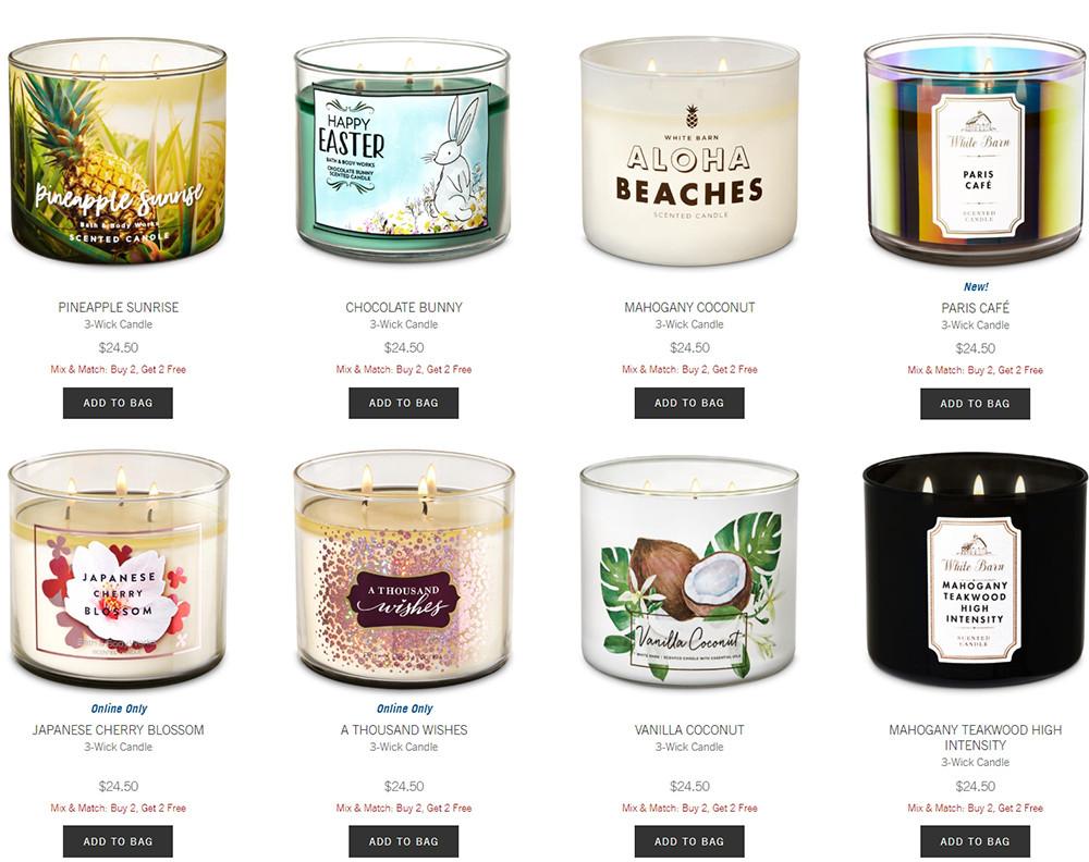 Bath & Body Works offers Buy 2 Get 2 FREE sale on 3-wick candles   Kongdeals 콩딜은 핫딜, hot deals, 할인쿠폰,아마존 할인코드, 아마존 쿠폰 코드, coupons, coupon code, promo code, freesbees, 무료 선물등 특별히 선별된 미국 쇼핑채널 및 브랜드 정보를  매일 공유합니다.