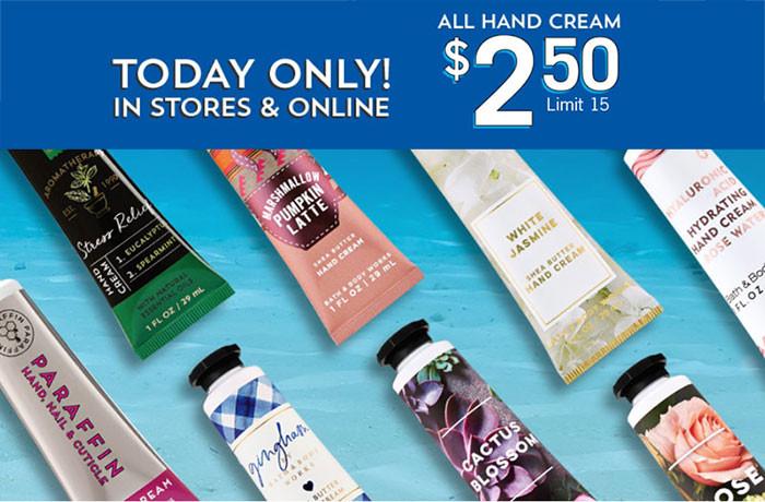 Bath&Body Works has Hand Cream |  Kongdeals은 핫딜, hot deals, 할인쿠폰,아마존 할인코드, 아마존 쿠폰 코드, Amazon, coupons, promo codes, coupon codes, freesbees, sale, clearance 등 미국 쇼핑 채널 세일 및 브랜드 정보를 매일 공유