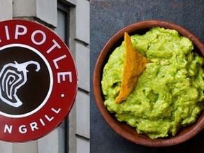 아보카도의 날! Chipotle 무료 Guacamole with Entrée (7/31일 단하루)