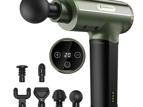 TaoTronics Massage Gun (20 Speeds/6 Attachments) $69.99 << $103.99