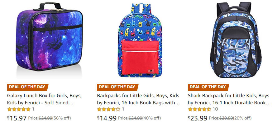 Up to 50% off Back-to-School Essentials by Fenrici | Kongdeals은 핫딜, hot deals, 할인쿠폰,아마존 할인코드, 아마존 쿠폰 코드, Amazon, coupons, promo codes, coupon codes, freesbees, sale, clearance 등 미국 쇼핑 채널 세일 및 브랜드 정보를 매일 공유
