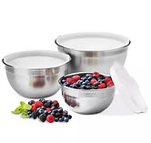 Cuisinart 3-Pc Stainless Steel Mixing Bowls w/Lids $39.99 << $67