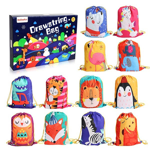 12 PCS Kids Party Favor Bags for Birthday Party Gift Package,Drawstring Goody Bag with Cartoon Animal Designed to Baby Boys and Girls | Kongdeals은 핫딜, hot deals, 할인쿠폰,아마존 할인코드, 아마존 쿠폰 코드, Amazon, coupons, promo codes, coupon codes, freesbees, sale, clearance 등 미국 쇼핑 채널 세일 및 브랜드 정보를 매일 공유