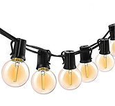 Vintage Globe LED String Lights 10-Hanging $13.79 << $22.99
