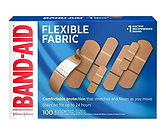 Band-Aid Brand Flexible Fabric Adhesive Bandages (Assorted Sizes) 100-Count $6.88 << $11.99