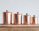 Hammered Stainless Steel Kitchen Canister 4-Pc Set $37.99 << $82.49