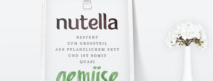 Kunstdruck, Print - Nutella