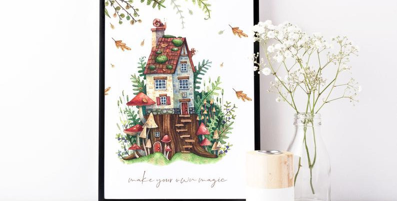 Kunstdruck, Print - Fairy House