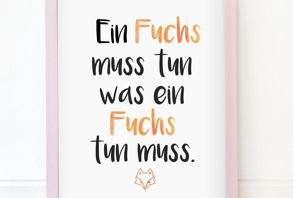 Kunstdruck, Print - Fuchs