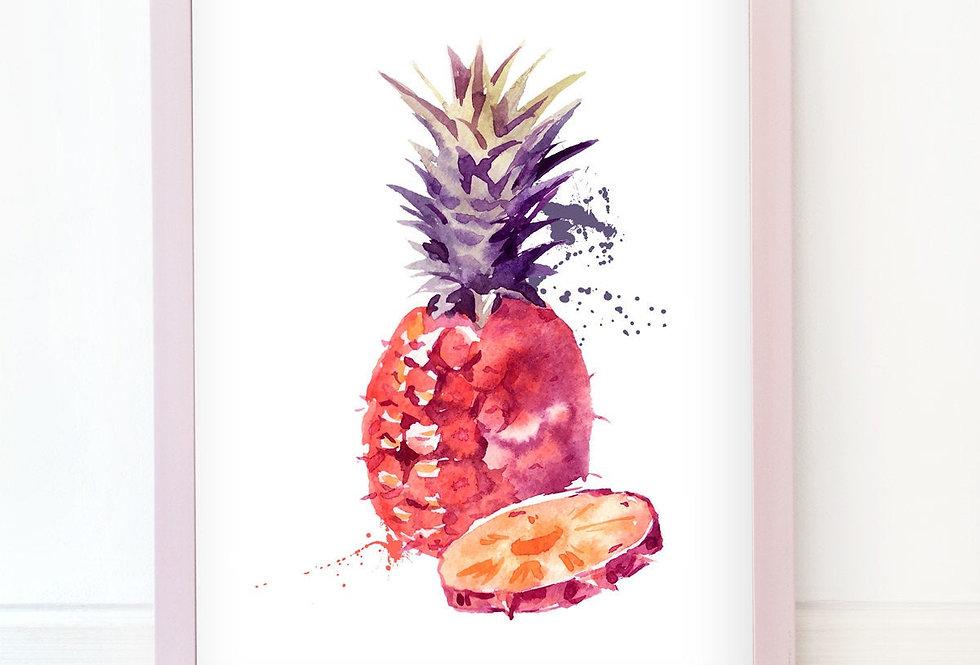Kunstdruck, Print - Ananas