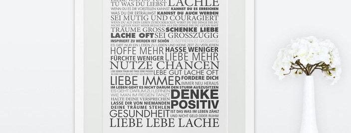 Kunstdruck, Print - Lebe Dein Leben