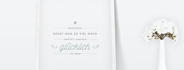 Kunstdruck, Print - Glücklich