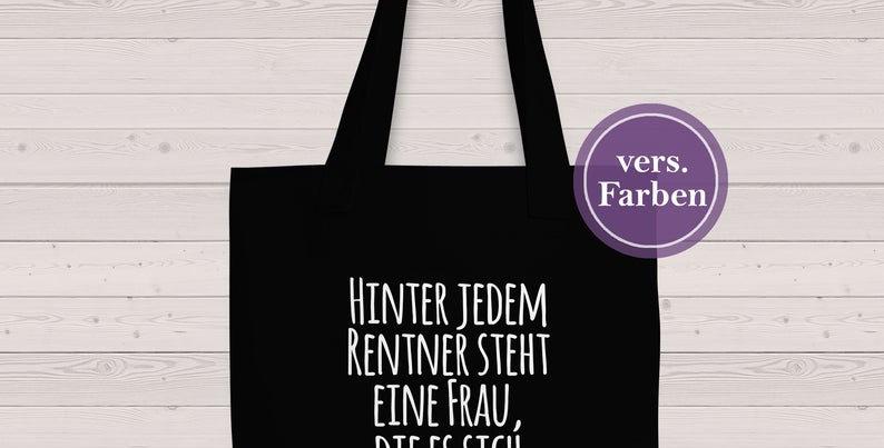 Jutebeutel, Tasche - Rentner 2