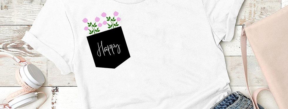T-Shirt - Happy Blumen