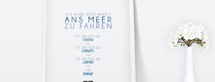 Kunstdruck, Print - Meer