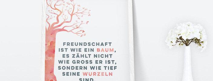 Kunstdruck, Print - Freundschaft