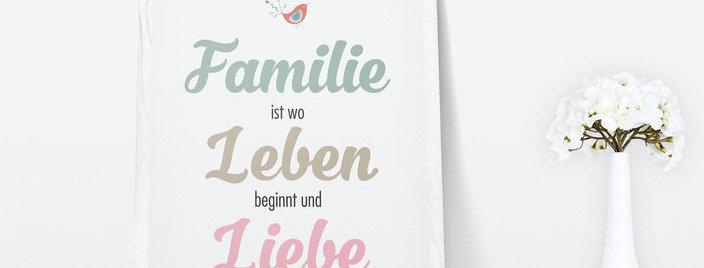 Kunstdruck, Print - Familie
