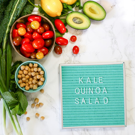 Summer Kale Quinoa Salad