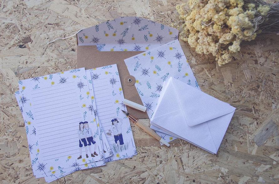 Papier à lettres louvettes