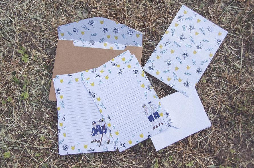 Papier à lettres louveteaux