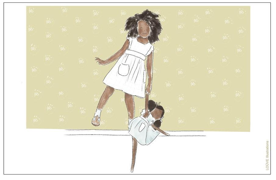Petite fille à la poupée