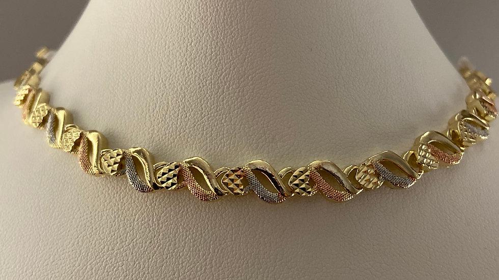 Tri-Tone Multi Strand Bracelet