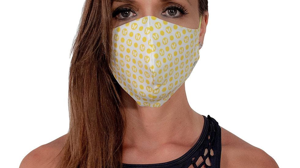 Face Mask Dots Yellow