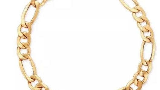 14K Gold Plated Figaro Bracelet