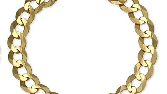 Cuban Bracelet 14K Gold Plated (7mm)