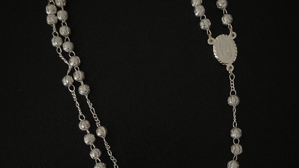 Religious Classic Beaded Rosary Necklace