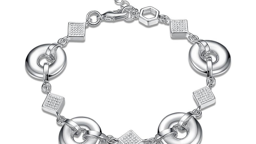 Massy 18K White Gold Plated Bracelet