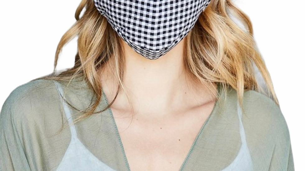 Checkered Filter Face Mask
