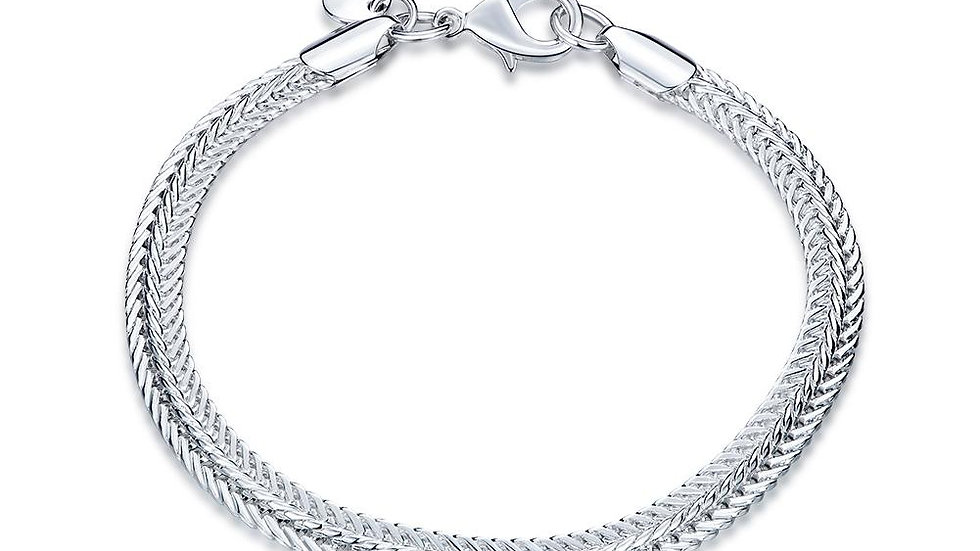 Meaux 18K White Gold Plated Bracelet