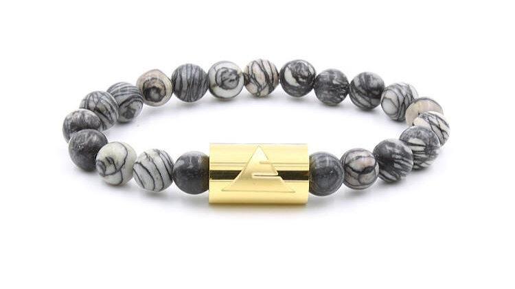 Rocky - Black Silk Stone Bracelet