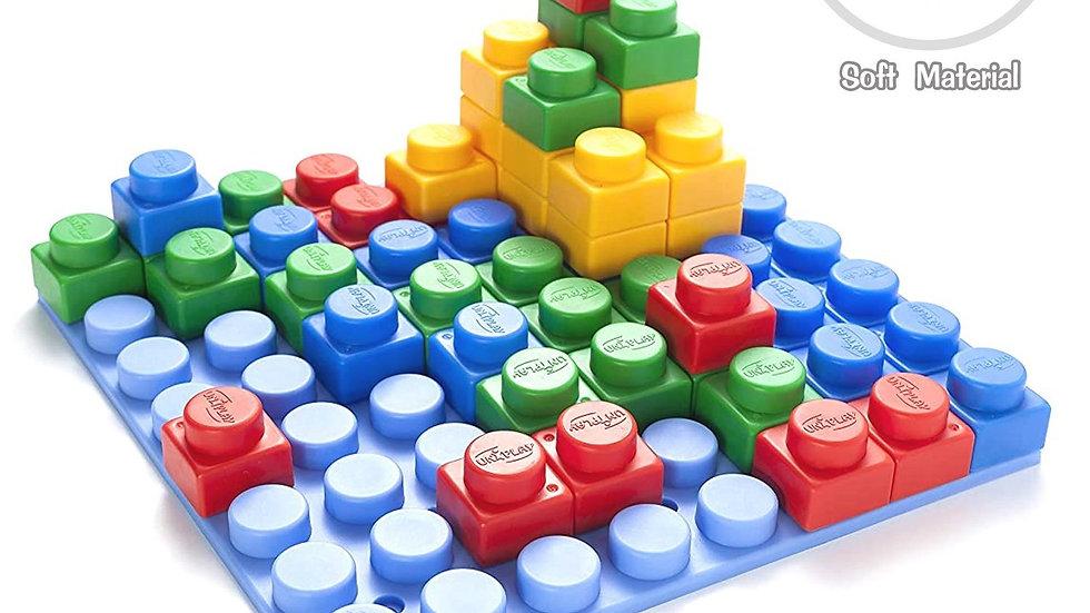 KIDS UNIPLAY Platform with Soft Building Blocks (64pcs)