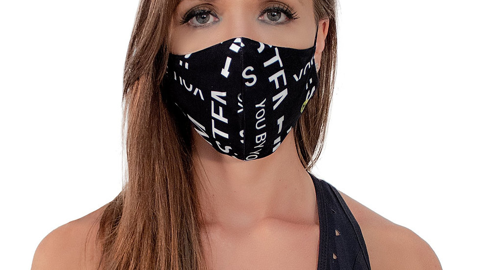 Face mask black with with Vestem letters