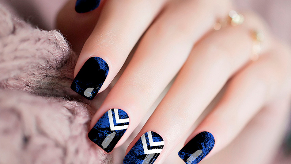 Chevron Blue Nail Stickers
