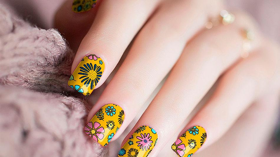 Hippies 70's Vibes Nail Stickers