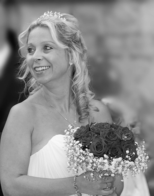 Bride arrives