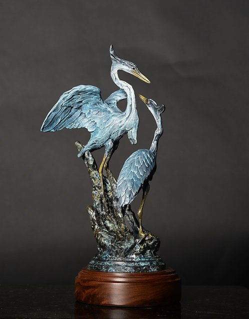 Great Blue Heron Duet, Maquette