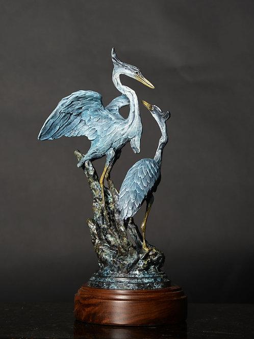 Great Blue Heron Duet, Maquette
