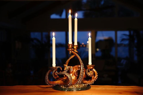 Pieces of Eight Octopus Candelabra