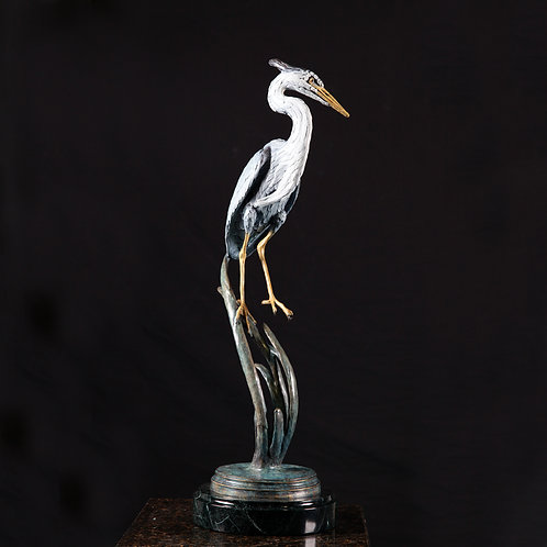 Balancing Great Blue Heron