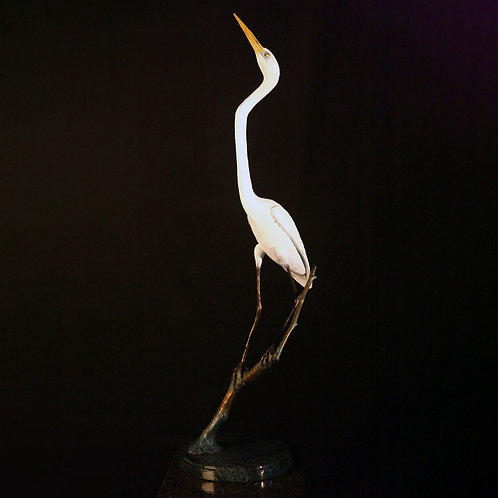 Life-Size Great Egret Reaching