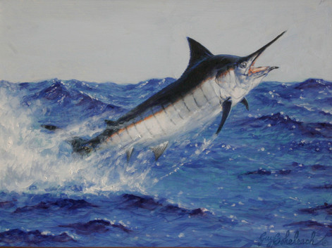 Black Marlin by Guy Coheleach